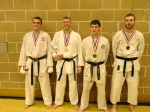 Greg winning the Central Regions Kumite Championships 2014
